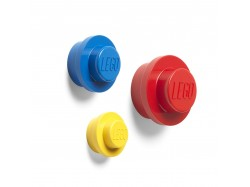 LEGO Wall Hanger Set (Yellow, Bright Blue, Red)