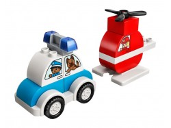 Fire Helicopter & Police Car