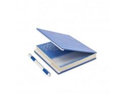 Locking Notebook with Gel Pen (Blue)