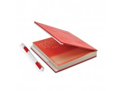 Locking Notebook with Gel Pen (Red)